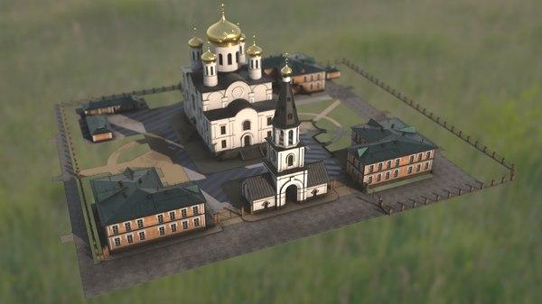 3D russian church model