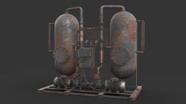 rusted machinery device 3D model