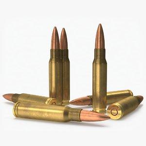 rifle cartridge 7 nato 3D model