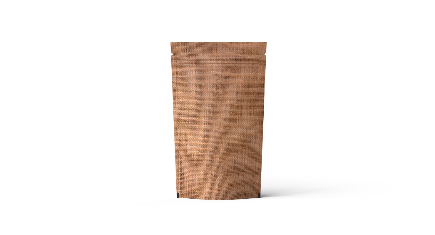 stand jute look pouch 3D model