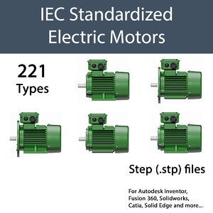 cad electric motor iec 3D model
