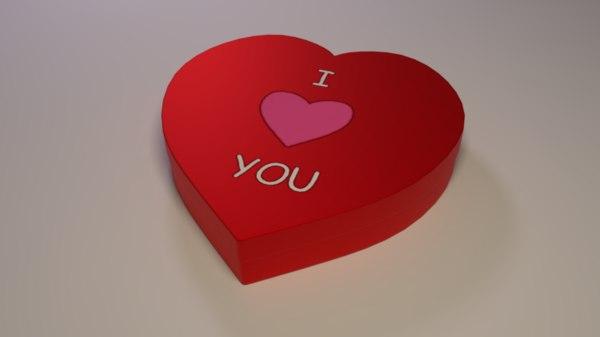 3D heart-shaped box