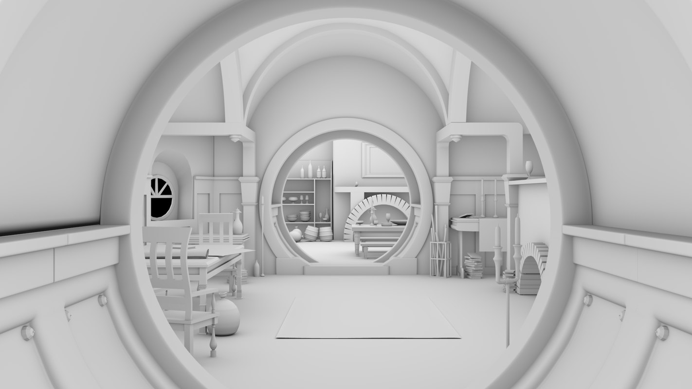 3D interior hobbit