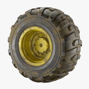 realistic dirty wheel 3D