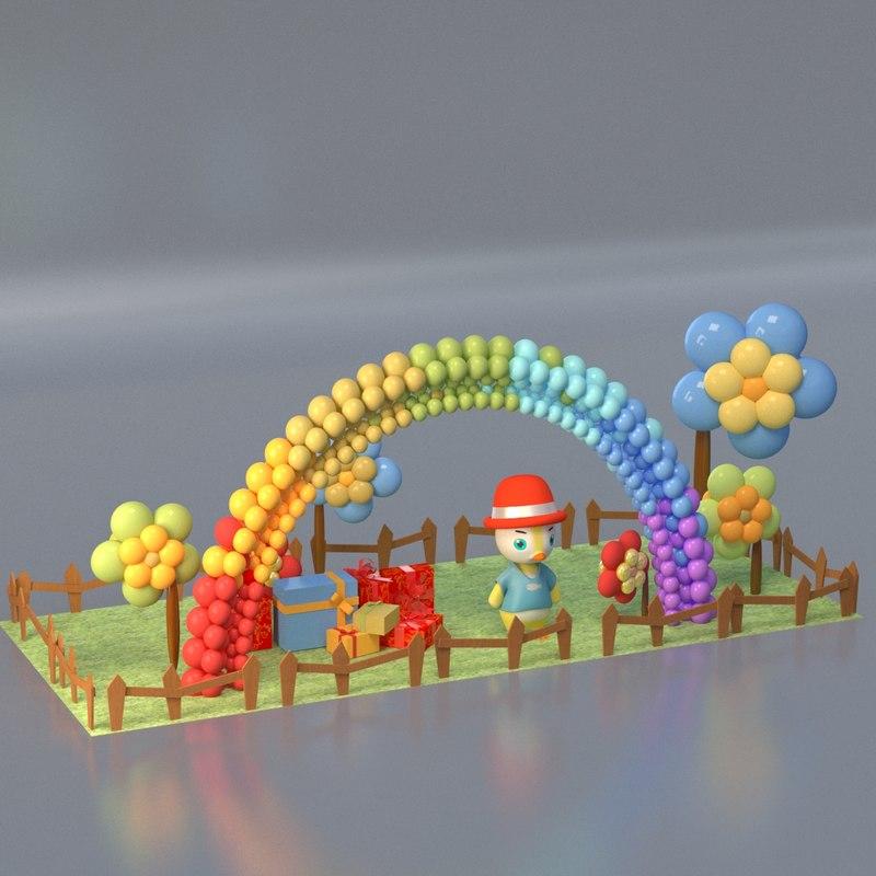 mall decoration 3D model