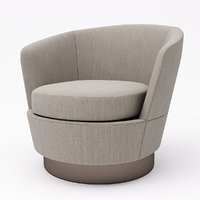 3D armchair minotti model