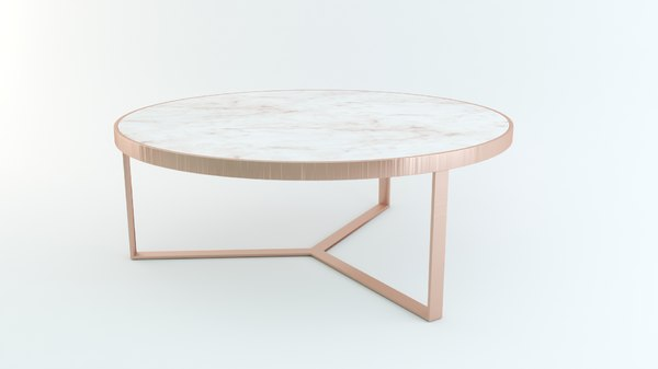 3D realistic coffee table architectural