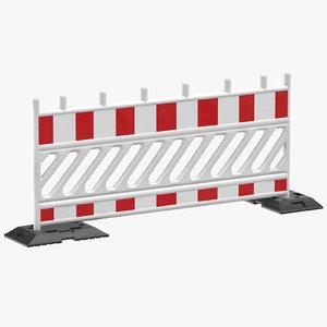 construction barrier 02 white model