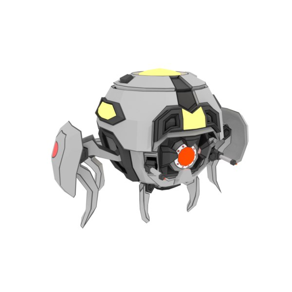 pbr sphere robot insect 3D