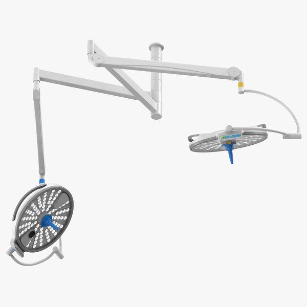 surgical lights 3D model