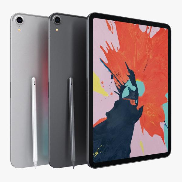 3D apple ipad pro11 color