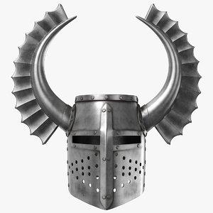 teutonic helmet 3D model