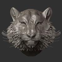 3D animal tiger