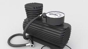 3D model air car compressor