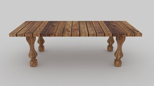 3D classic coffee antic table model
