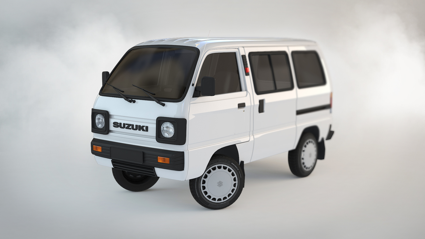 3D suzuki carry minivan