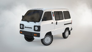 3D suzuki carry minivan