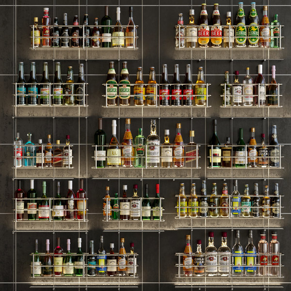 alcohol bar 3D model