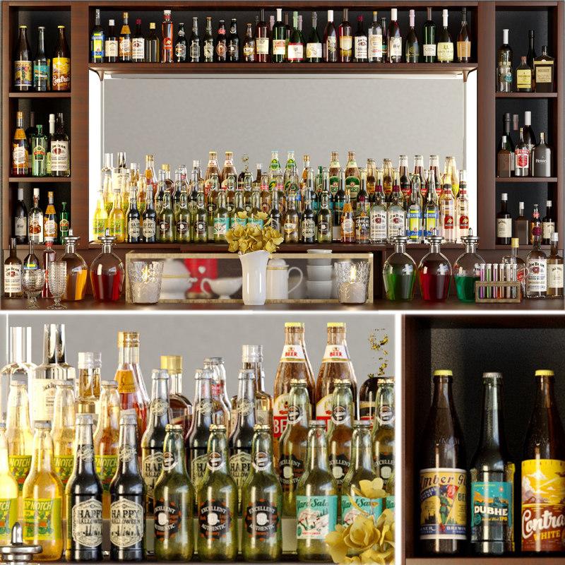 alcohol bar 3D