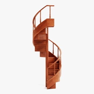 3D library staircase model