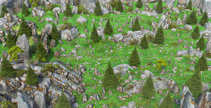 3D forest pine model
