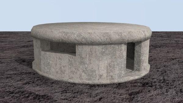 bunker defensive underground 3D model