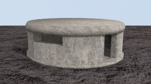bunker defensive underground 3D model