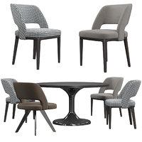 minotti owens chair neto 3D model