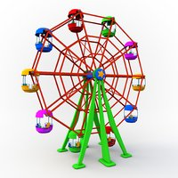 cartoon ferris wheel 3D
