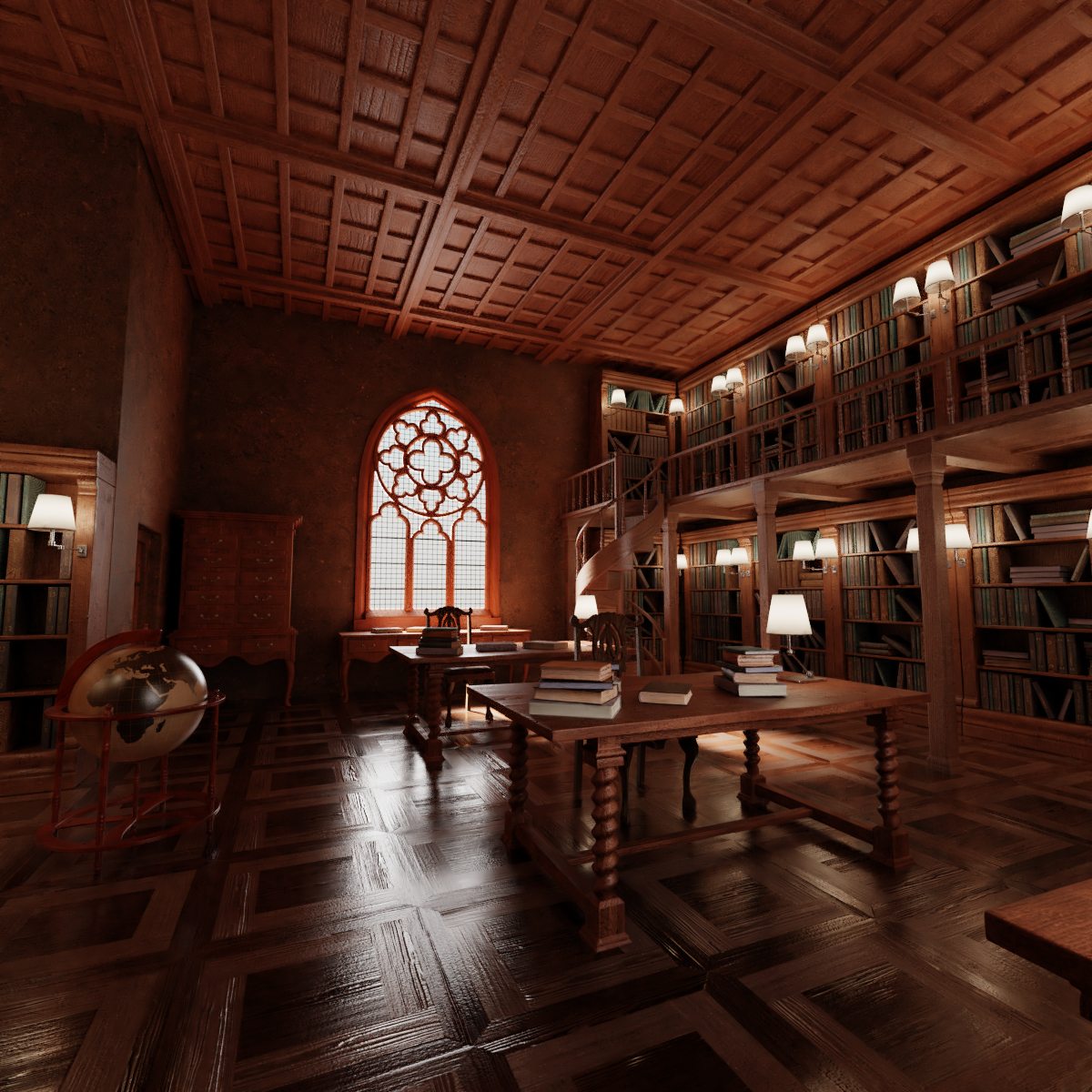 3D old library model