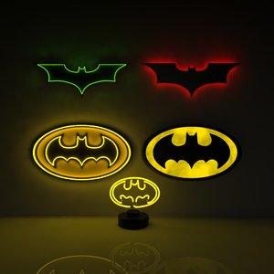 batman lamp 3D model