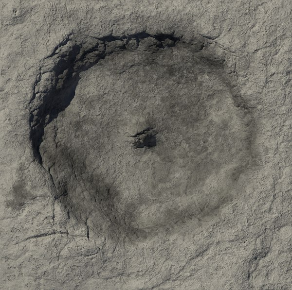 tycho crater 3D model