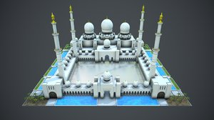 sheikh zayed mosque 3D model