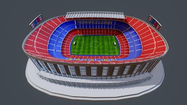 3D model camp nou