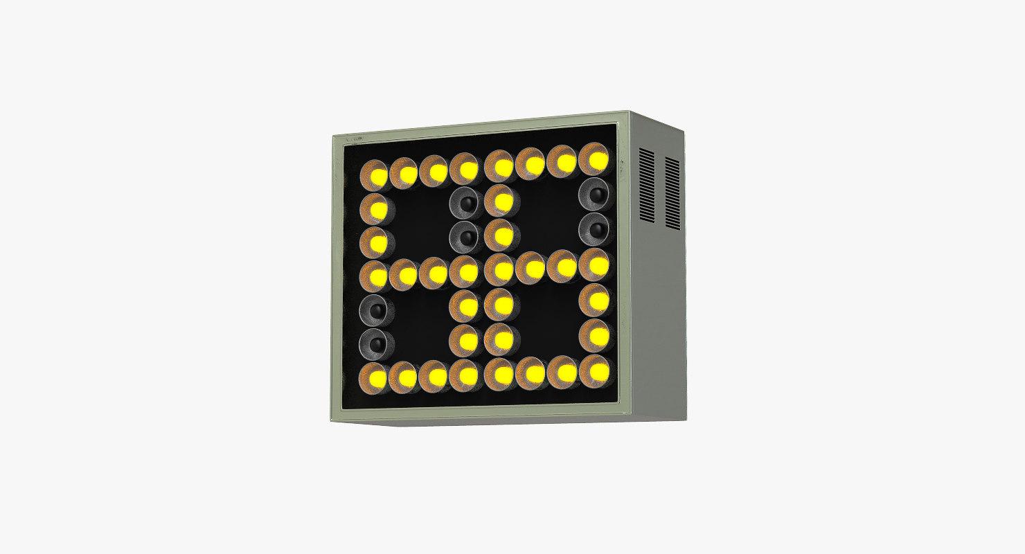 light score panel 3D