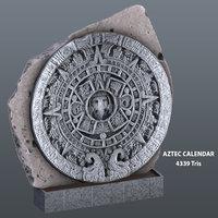 3D aztec calendar