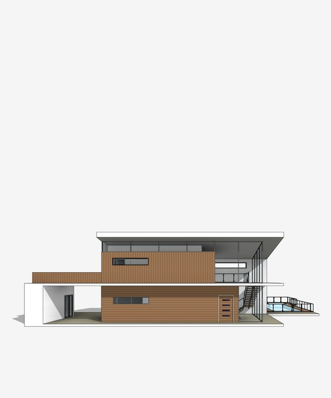 3D model modern revit villa
