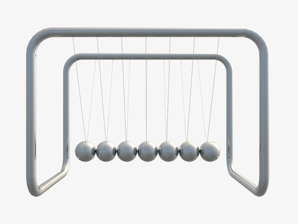 3D newton pendulum model