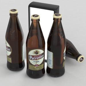 bier weissbier 3D model