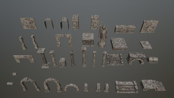 3D archway column pillar