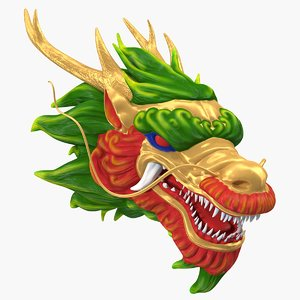 3D model chinese dragon head