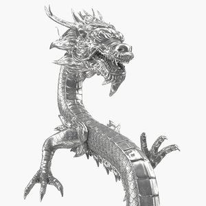 chinese dragon silver model