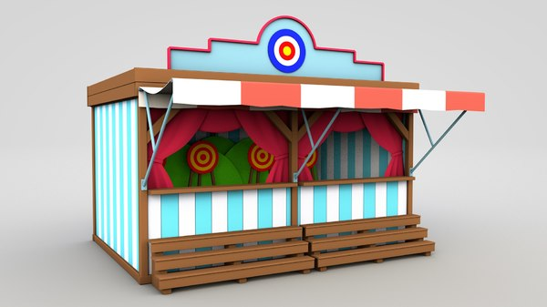 3D cartoon shooting gallery