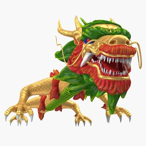 traditional chinese dragon neutral 3D model