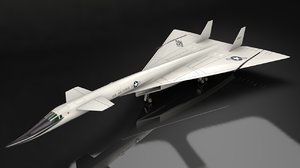 3D model xb-70 valkyrie supersonic aircraft
