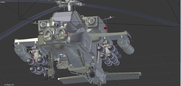 3D apache helicopter