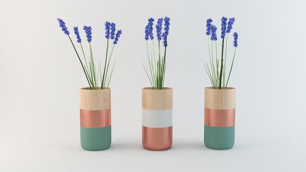 decorative pot plant model