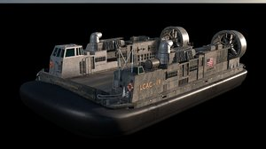 landing craft air cushion 3D model