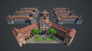 3D model hospital la santa creu