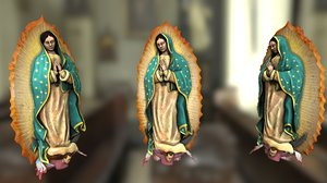 lady guadalupe virgin mary 3D model